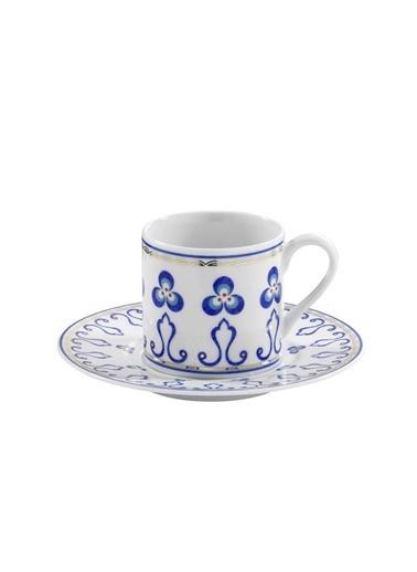 Kütahya Porselen Çintemani 9727 Desen Kahve Fincan Takımı Renkli